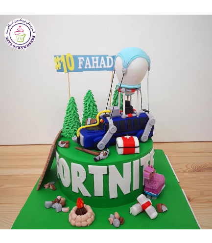 Cake - Battle Bus - 3D Cake Topper - Round Cake - 1 Tier