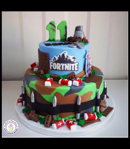 Cake - 3D Cake Toppers - Fondant Cake - 2 Tier 02