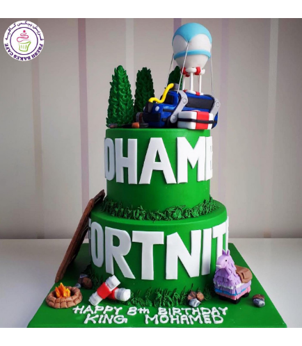 Cake - Battle Bus - 3D Cake Topper - Round Cake - 2 Tier