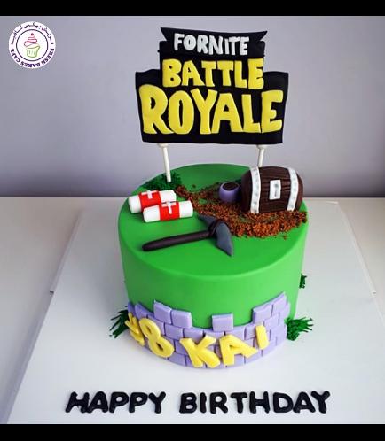 Cake - 3D Cake Toppers - Fondant Cake - 1 Tier 01