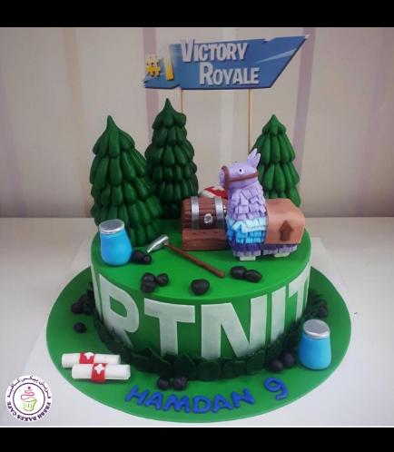 Cake - 3D Cake Toppers - Fondant Cake - 1 Tier 02