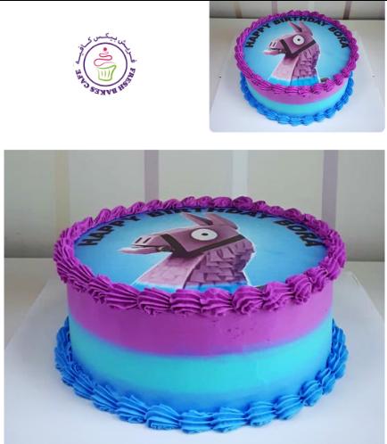 Cake - Llama - Printed Picture 01
