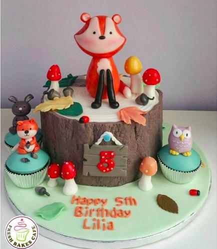 Fox Themed Cake - 3D Cake Topper 01