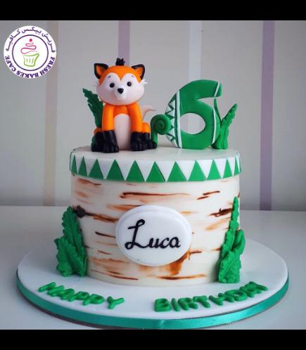 Fox Themed Cake - 3D Cake Topper 02