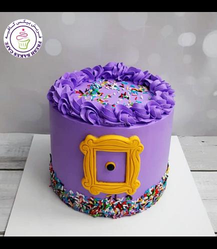 Friends Themed Cake - Funfetti Cake