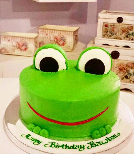 Frog Themed Cake - 2D Cake