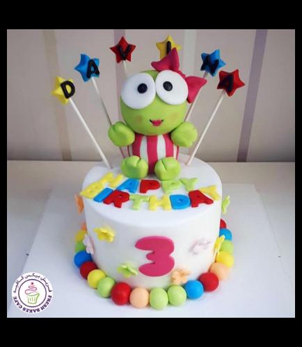 Frog Themed Cake - 3D Cake Topper