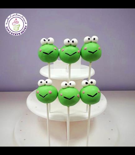 Frog Themed Cake Pops
