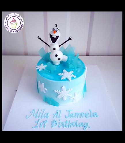 Cake - Olaf - 3D Cake Topper 01