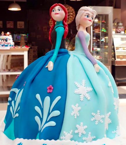 Cake - Doll Cake - Elsa & Anna