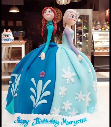 Cake - Disney Frozen - Elsa & Anna - 1 Cake