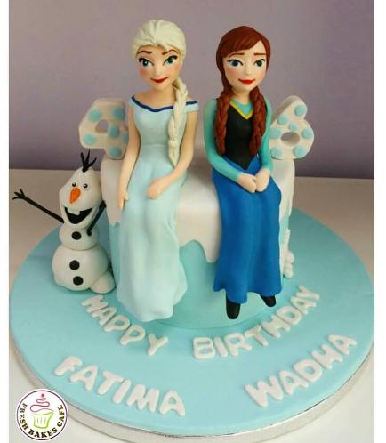Cake - Disney Frozen Elsa & Anna