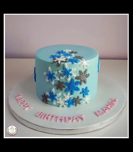 Cake - Snowflakes - 1 Tier 01