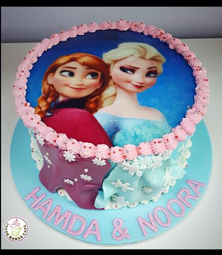 Cake - Picture - Printed Picture - Fondant Cake & Fondant Dresses