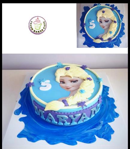 Cake - Picture - Printed Picture - Fondant Cake & Fondant Hair 01