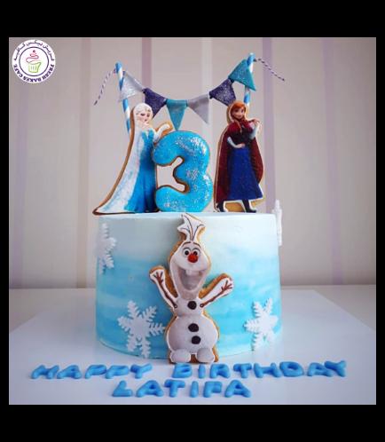 Cake - Elsa, Anna, & Olaf  - Cookies