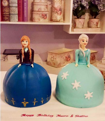 Cake - Disney Frozen - Elsa & Anna - 2 Cakes