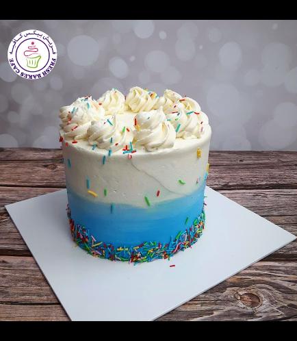 Funfetti Cake - Cream Piping - Blue 02