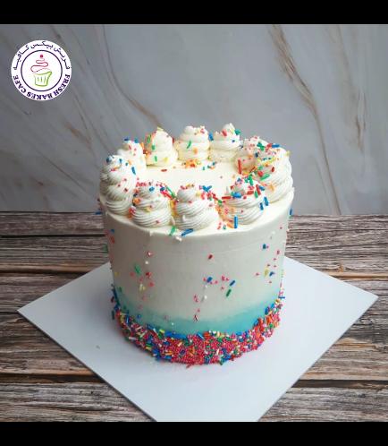 Funfetti Cake - Cream Piping - Blue 03