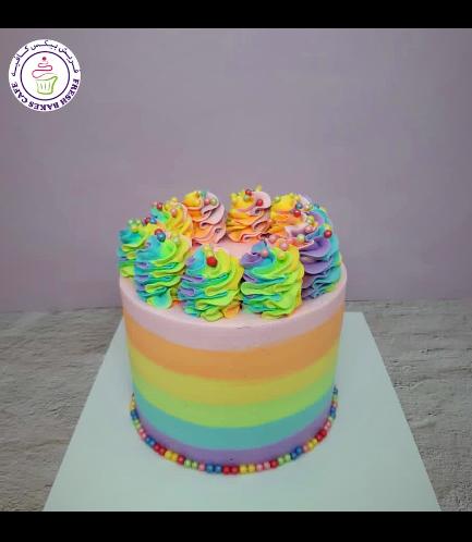 Funfetti Cake - Cream Piping - Rainbow - Pastel 01