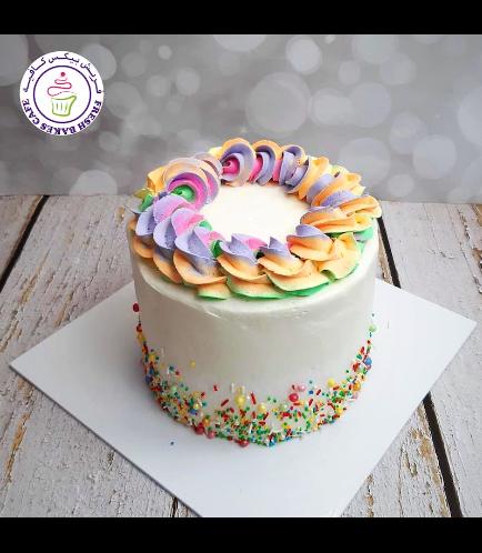 Funfetti Cake - Cream Piping - Rainbow - Pastel 02