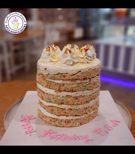 Funfetti Cake - Naked Cake