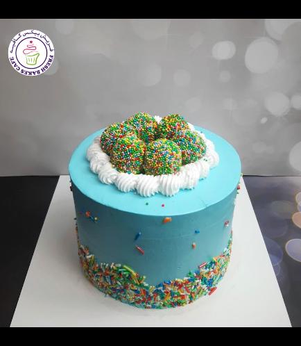 Funfetti Cake with Cake Pops - Blue