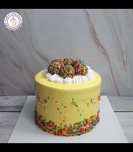 Funfetti Cake with Cake Pops - Yellow