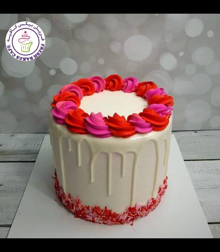 Cake - Funfetti Cake - Cream Rose