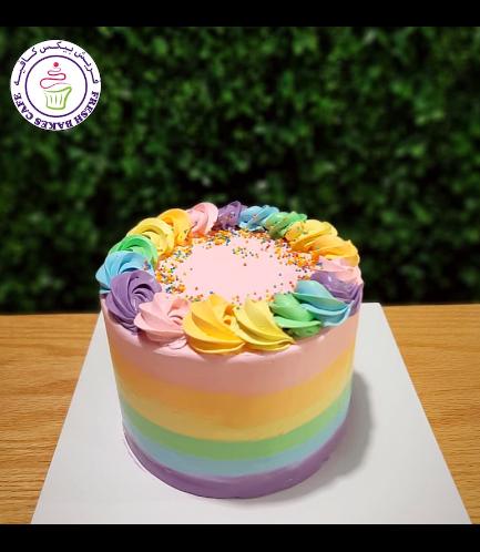 Funfetti Cake with Cream Rose 04