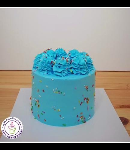 Funfetti Cake - Cream Piping - Blue - All