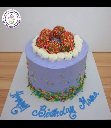 Funfetti Cake with Cake Pops  - Purple