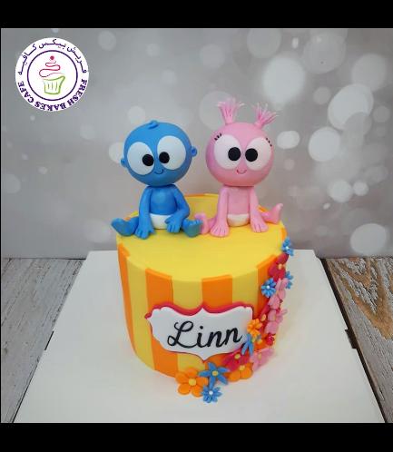 Funny GooGoo & GaaGaa Baby Themed Cake