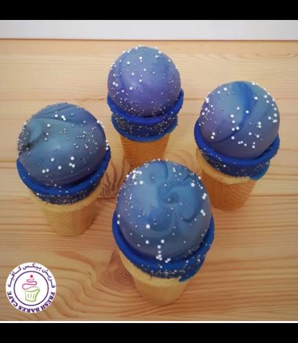 Cone Cake Pops - Galaxy