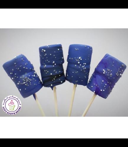 Galaxy Themed Marshmallow Pops
