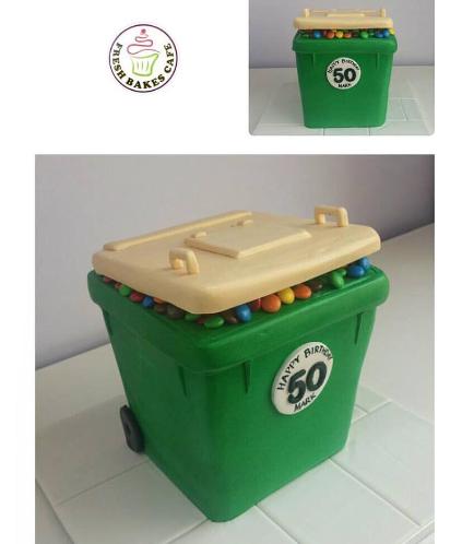 Garbage Bin Themed Cake
