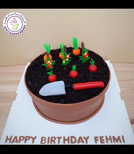 Gardening Themed Cake 02