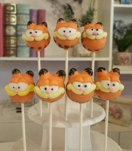 Garfield Themed Cake Pops