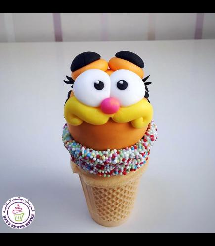 Garfield Themed Cone Cake Pops 02
