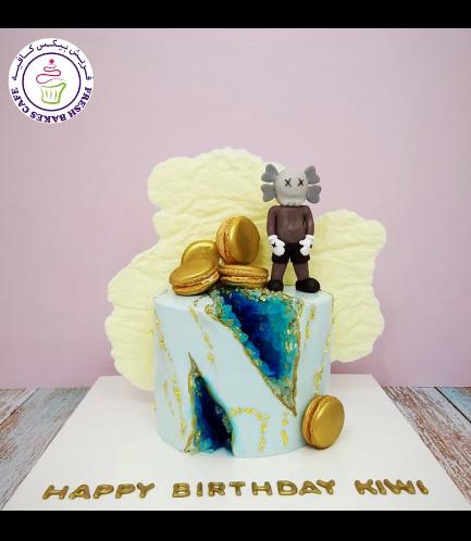 Cake - 1 Tier - 3D KAWS Companion
