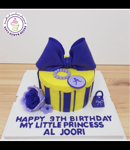 Cake - Round - Purple & Yellow