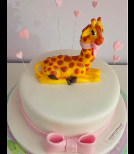 Giraffe Themed Cake