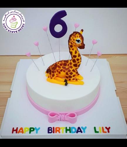 Giraffe Themed Cake - 3D Cake Topper 01