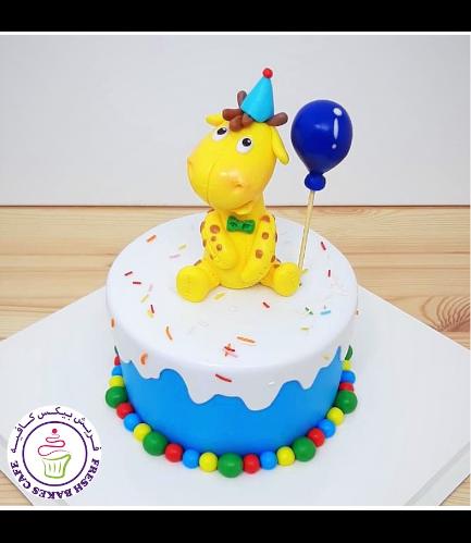 Giraffe Themed Cake - 3D Cake Topper 02