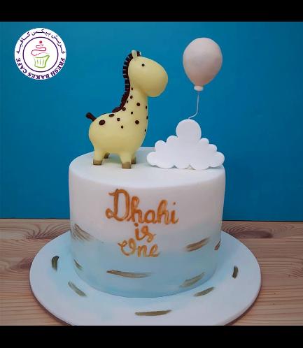 Giraffe Themed Cake - 3D Cake Topper 03