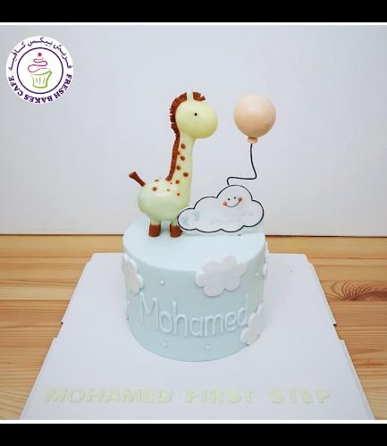 Giraffe Themed Cake - 3D Cake Topper 04