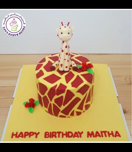 Giraffe Themed Cake - 3D Cake Topper 05
