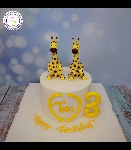 Giraffe Themed Cake - 3D Cake Toppers
