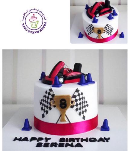 Car Themed Cake - Go Kart - 3D Cake Topper