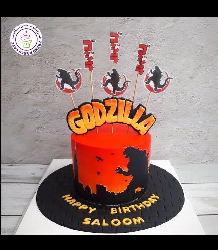 Godzilla Themed Cake